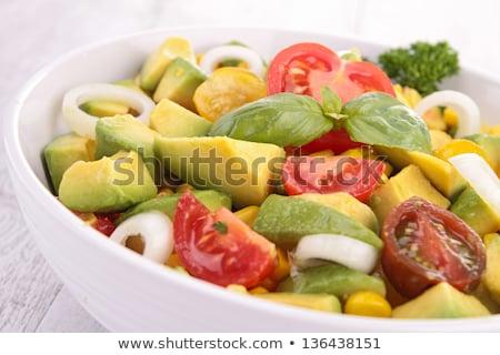 Taze salata avokado domates peynir yaprak Stok fotoğraf © Melnyk