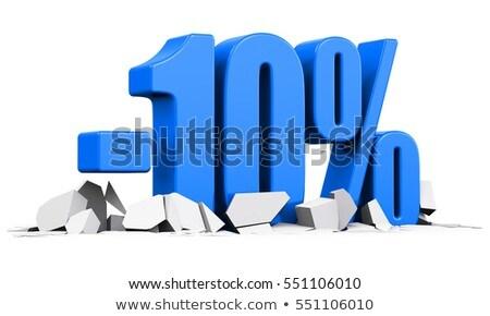 Diez por ciento blanco aislado 3d dinero Foto stock © ISerg