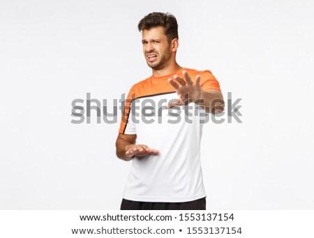Knap mannelijke atleet sport tshirt stap Stockfoto © benzoix