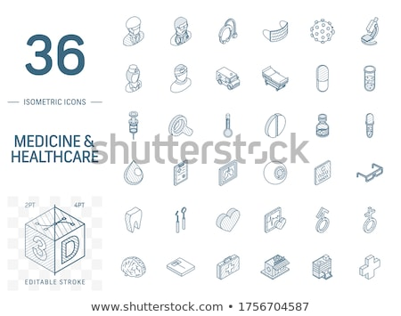 Pills And Virus Icon Vector Outline Illustration Stock photo © pikepicture