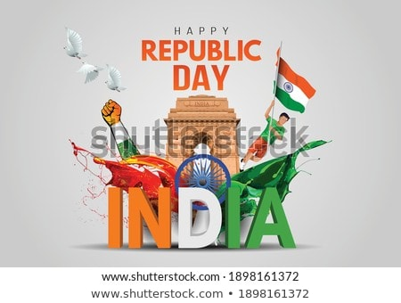 indian creative flag for republic day design Stock photo © SArts