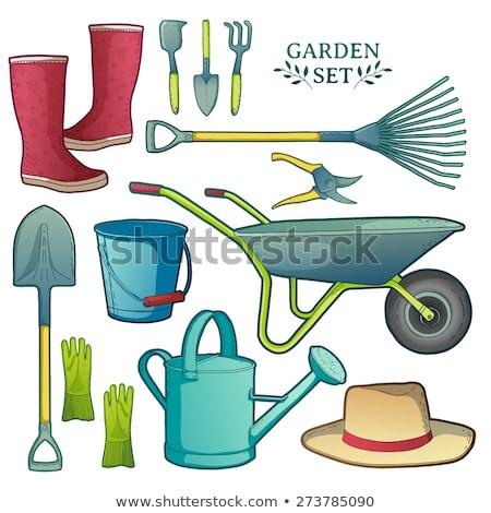 Garden rake. Isolated color icon. Spring vector illustration Stock photo © Imaagio