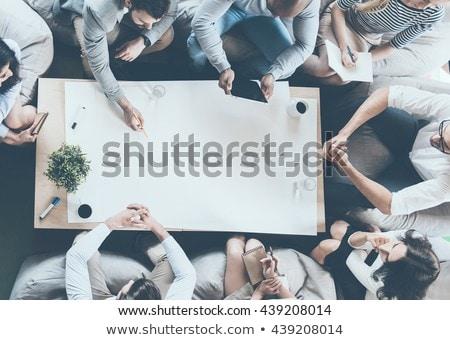事業者 座って デスク 方向 異なる ビジネス ストックフォト © ra2studio