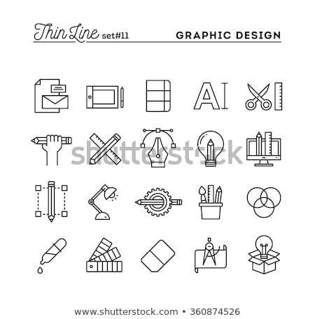 light industrial processing icon vector outline illustration Stock photo © pikepicture
