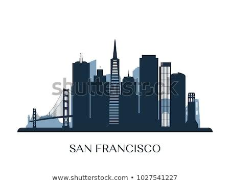 San Francisco Skyline bleu bâtiments voyage d'affaires Photo stock © ShustrikS