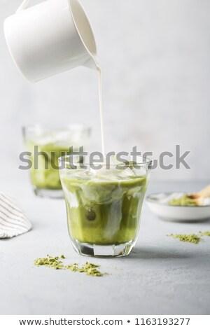 Koud thee melk ijs koude drank groene thee Stockfoto © furmanphoto