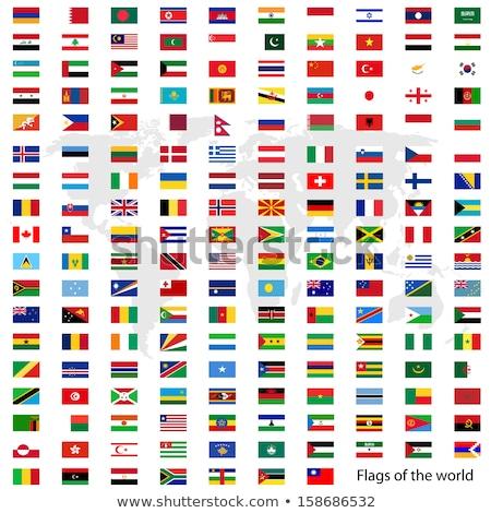 Russie USA drapeaux blanche design monde Photo stock © butenkow