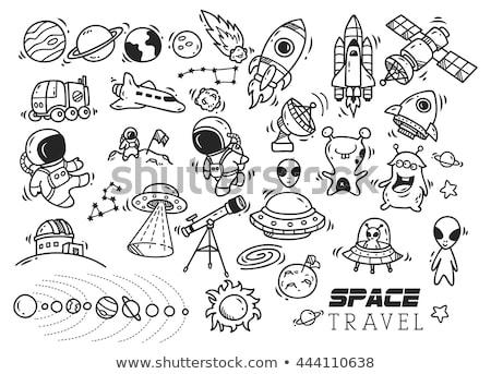 Cartoon vector doodles Space sketchy fun illustration Stock photo © balabolka