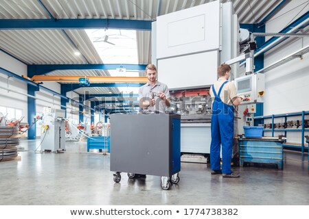 Herstellung Arbeitnehmer Fabrik Stock Metall Industrie Stock foto © Kzenon
