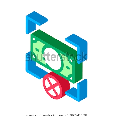 Fake Banknote Orientation isometric icon vector illustration Stock photo © pikepicture