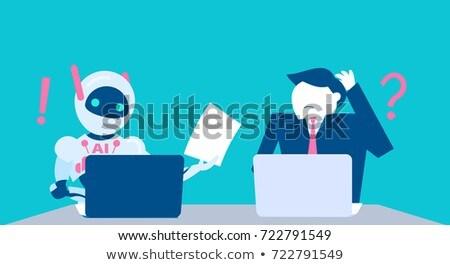 AI in social media concept vector illustration Stock photo © RAStudio