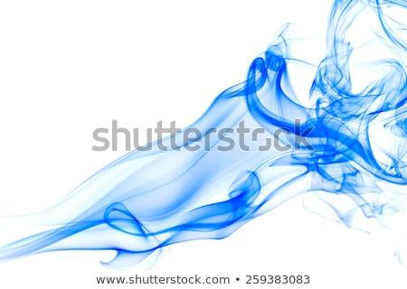 abstract blue smoke detail stock photo © prill