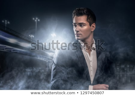 Closeup of a handsome young man in a suit Stock photo © photography33