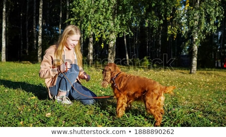 fair-haired woman under tree Stock photo © photography33