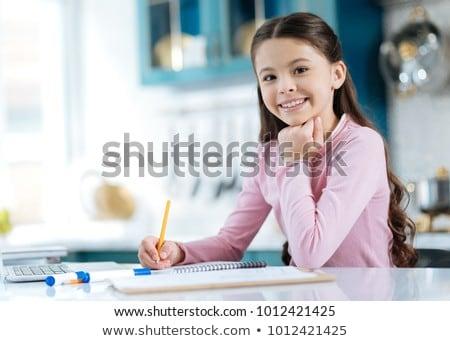 Meisje schrijven boek school kind potlood Stockfoto © photography33