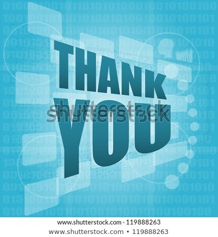 Words Thank You On Digital Screen Holiday Concept Stock fotó © fotoscool