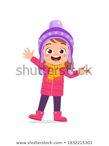 Cute girl wearing a coat stock photo © acidgrey