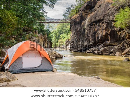 tent on river beach Stock photo © Mikko