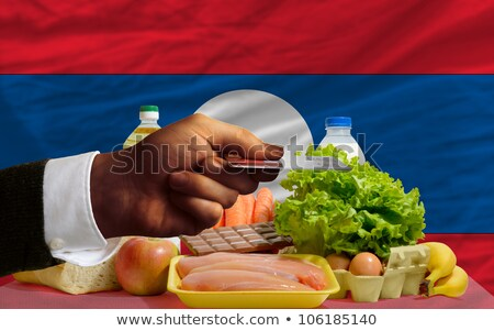 Buying Groceries With Credit Card In Laos Foto stock © vepar5