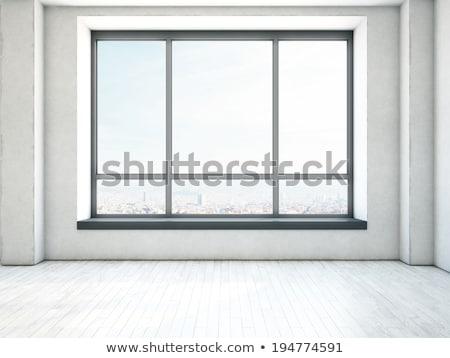 melancólico · sucia · Rusty · pared · ventana - foto stock © darkkong