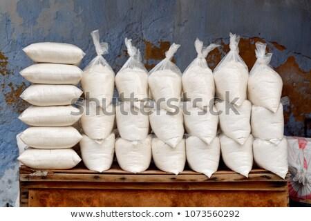 Bolsas sal venta mercado Marruecos blanco Foto stock © haraldmuc