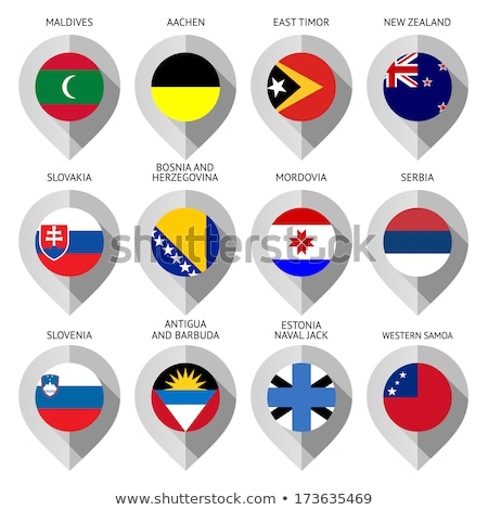Map marker with flag-set twelfth Stock photo © Ecelop