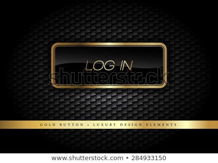Log Out Gold Vector Icon Button Stock photo © rizwanali3d