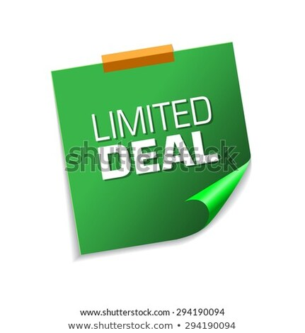 Limited Green Sticky Notes Vector Icon Design Stock photo © rizwanali3d