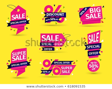 Big Offer Pink Vector Button Icon Stock photo © rizwanali3d