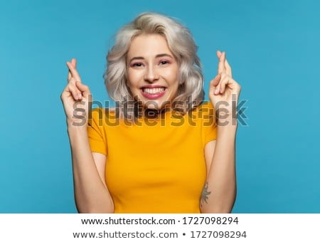 girl smiling about something funny Stock photo © Giulio_Fornasar