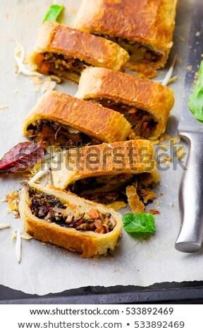 Mung Bean Mushroom And Vegetable Strudel Сток-фото © zoryanchik