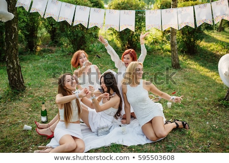 girl celebrate Bachelorette party Stock photo © adrenalina