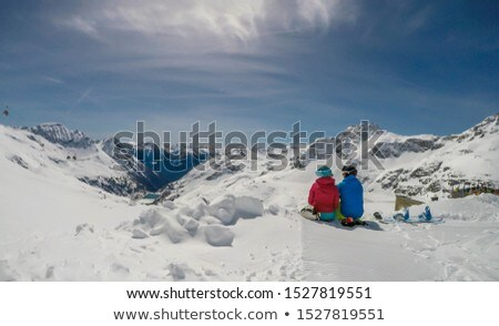 marrom · neve · inverno · paisagem · ver · vertical - foto stock © is2