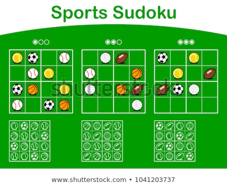 Three sudoku grids with cartoon sports balls Stock photo © adrian_n