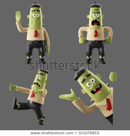 Leuk zombie 3d illustration man dood tanden Stockfoto © julientromeur