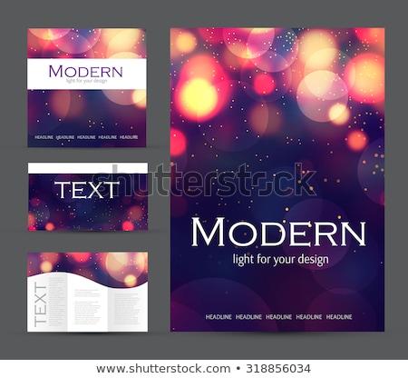 Stockfoto: Kleurrijk · uitnodiging · bokeh · abstract · licht · kunst