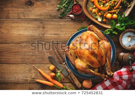 roast turkey on a wooden table stock photo © nito