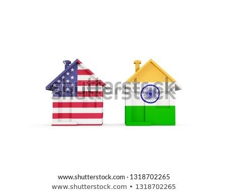 bayrak · Hindistan · örnek · katlanmış · Internet · harita - stok fotoğraf © mikhailmishchenko