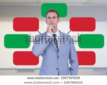 Businessman and mind map over bright background Stock photo © wavebreak_media