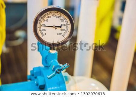 Presión sensor industrial gas planta Foto stock © galitskaya