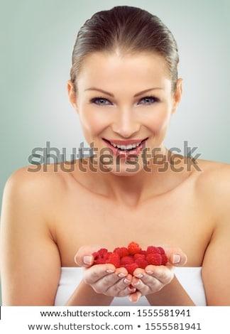 Portre genç güzel bir kadın eller fincan Stok fotoğraf © ElenaBatkova