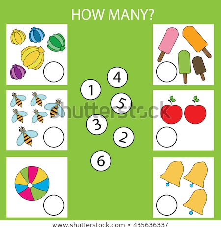 Puzzle game for kids. Education developing worksheet - apple Stock photo © natali_brill