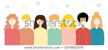 Menschen unterschiedlich tragen medizinischen Masken stehen Stock foto © robuart