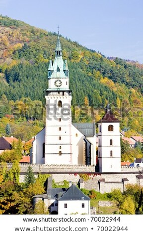 castle and church of St. Catherine, Kremnice, Slovakia Stock photo © phbcz