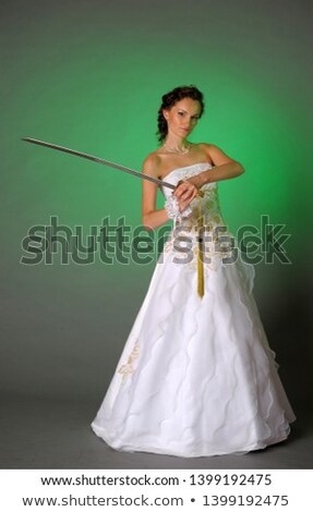 Young Bride armed sword Stock photo © pzaxe