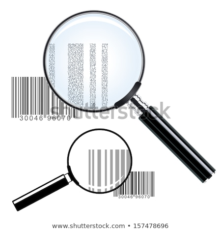 Two magnifying glasses over bar codes Stock photo © adrian_n
