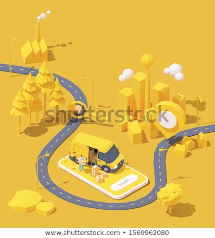 Stockfoto: Weg · home · steegje · gras · najaar · gekleurd