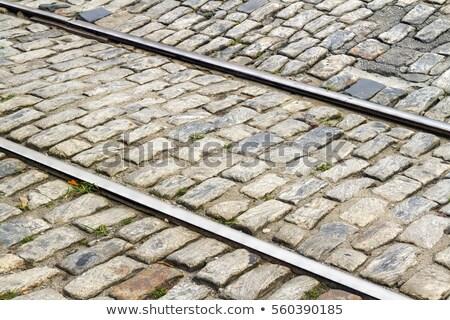 öreg kő utca város absztrakt háttér Stock fotó © meinzahn