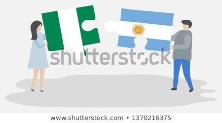 3D · banderą · Nigeria · Afryki · federalny · republika - zdjęcia stock © istanbul2009