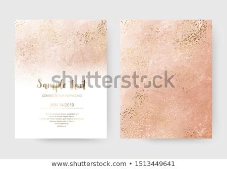 Zaproszenie na ślub karty zamazany wzór nowoczesne tekst Zdjęcia stock © vectorikart